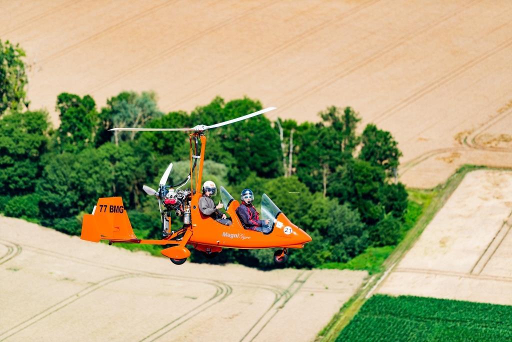 Vol d'un ULM Autogire