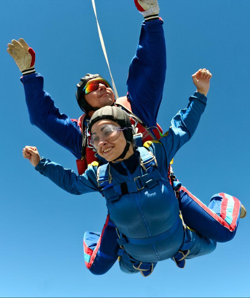 Saut parachute tandem