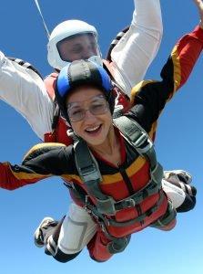 Vitesse saut parachute