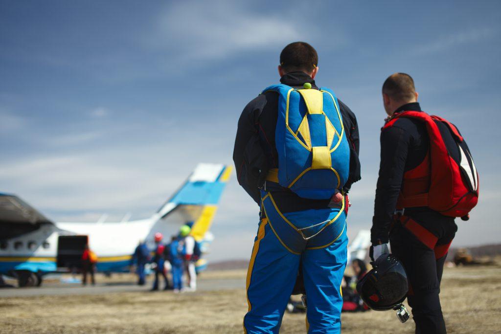 Décollage saut en parachute