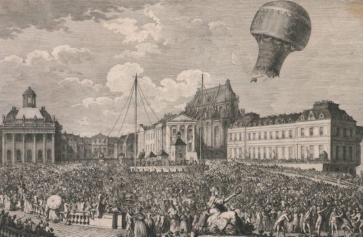 Premier vol en montgolifère des Frères Montgolfier