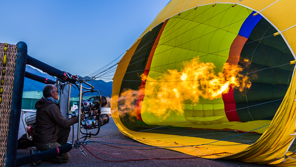 Aéronaute d'une montgolfière