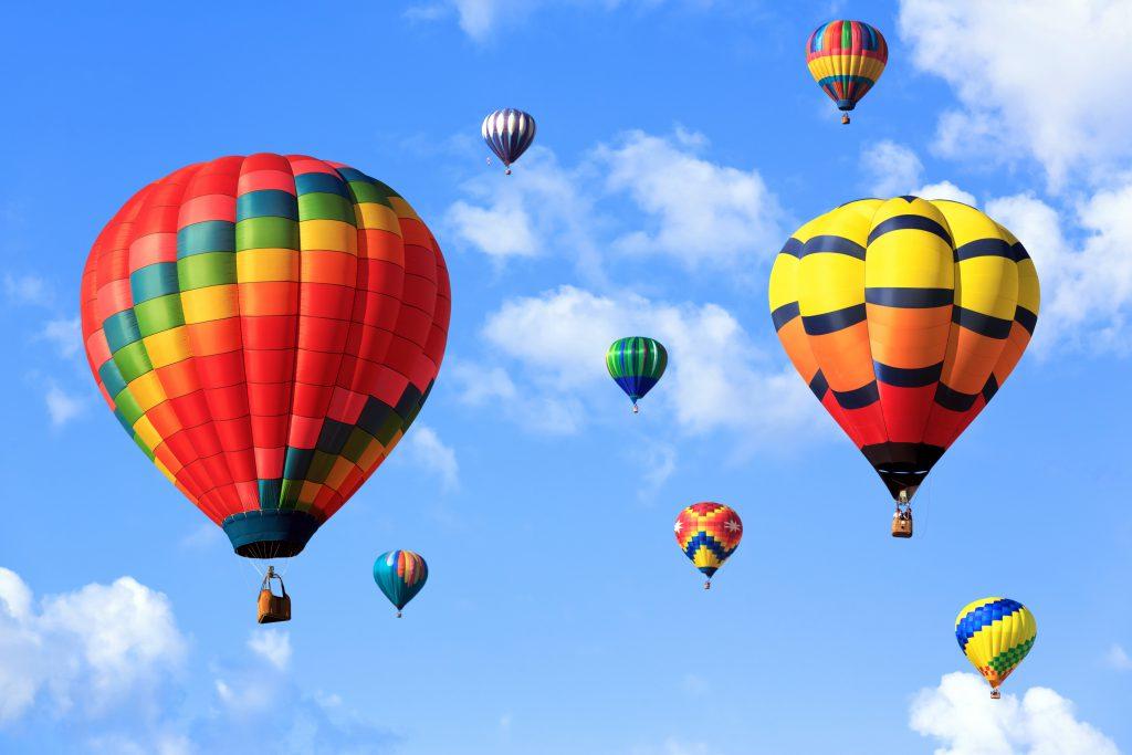 Différentes montgolfières