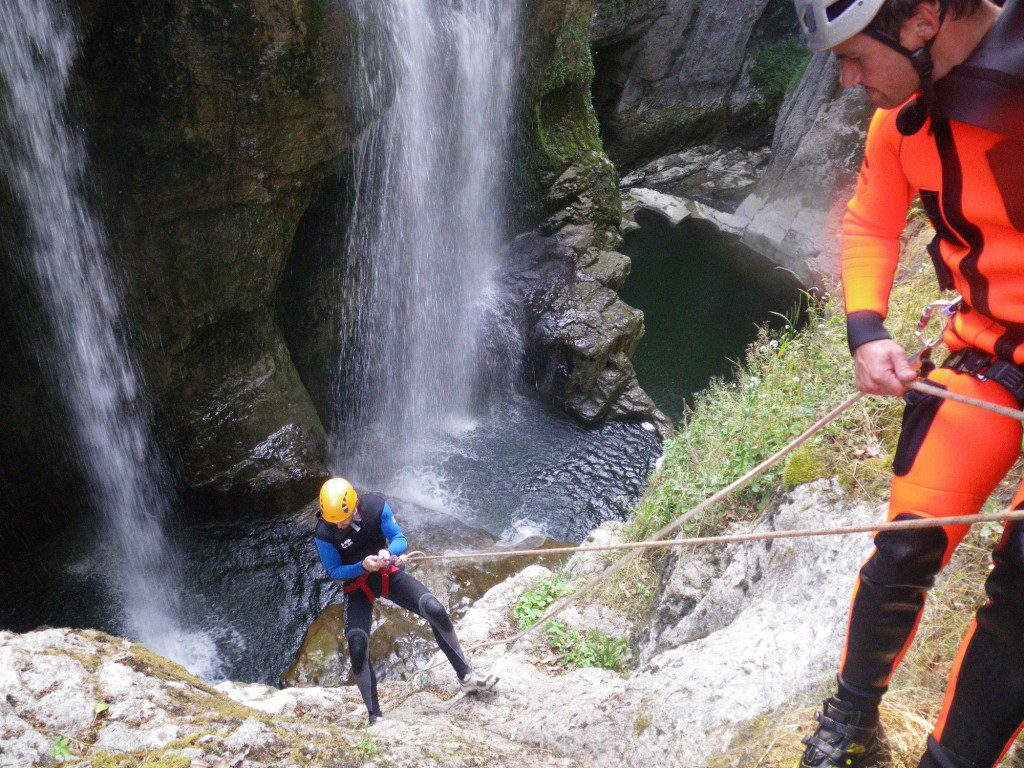 Canyoning dans le Jura