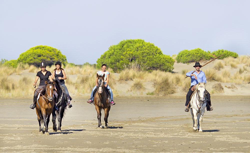 Balade à cheval aux Saintes-Maries-de-la-Mer en Camargue