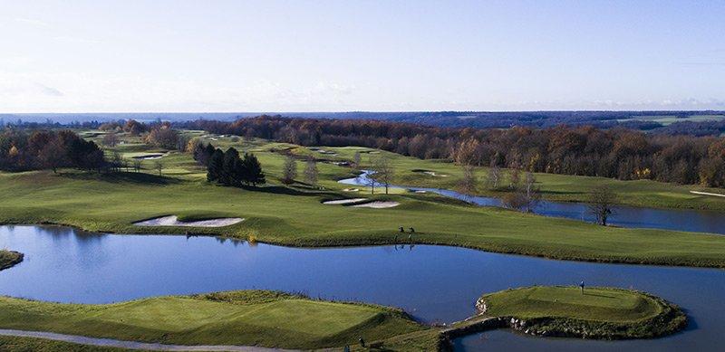 Lac parcours golf Crecy