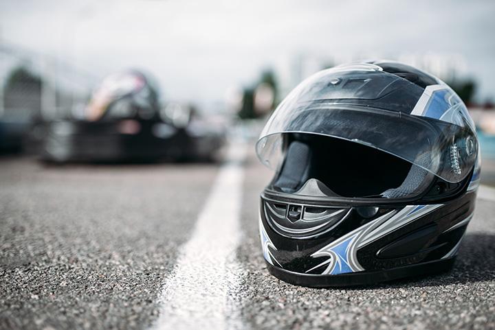Casque de karting